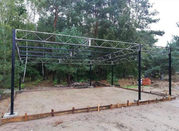 Konstrukcja skręcana wiata rolna garaż 6,2m x 8m Hala Magazyn Blacha