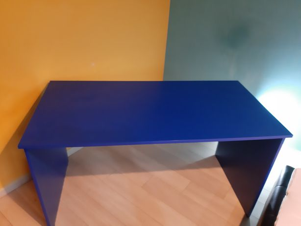 Biurko 70×140 niebieskie