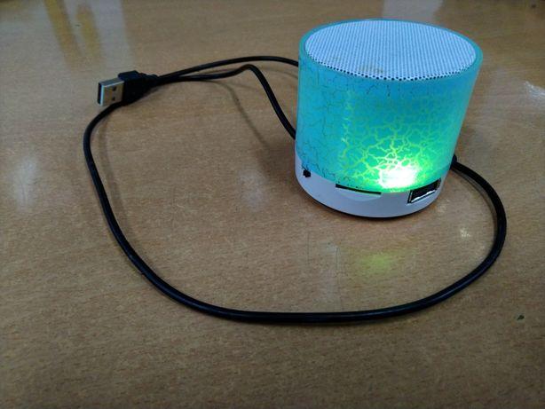 Coluna Bluetooth rádio FM usb azul