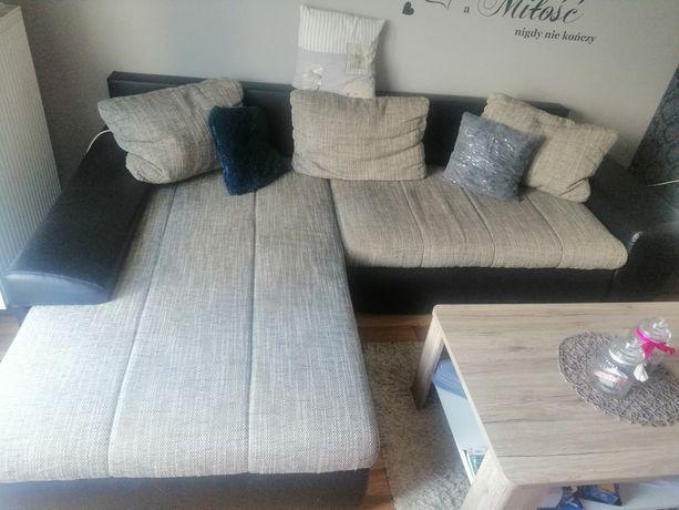 Sofa-narożnik do salonu z funkcja spania, nowa okazja!