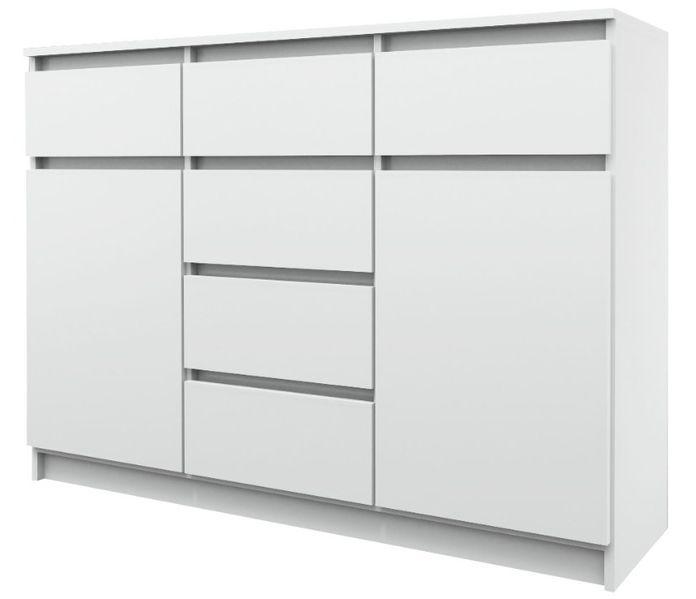 6+2 140/ SOLIDNA pojemna KOMODA szafka / 140x100x38 cm / 3 KOLORY