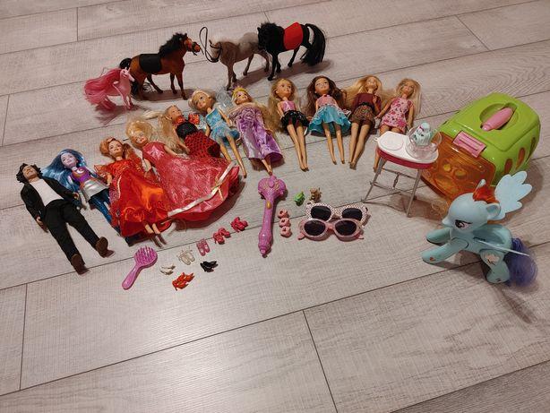Zestaw zabawek lalki Barbie konie Rainbow Dash My Little Pony