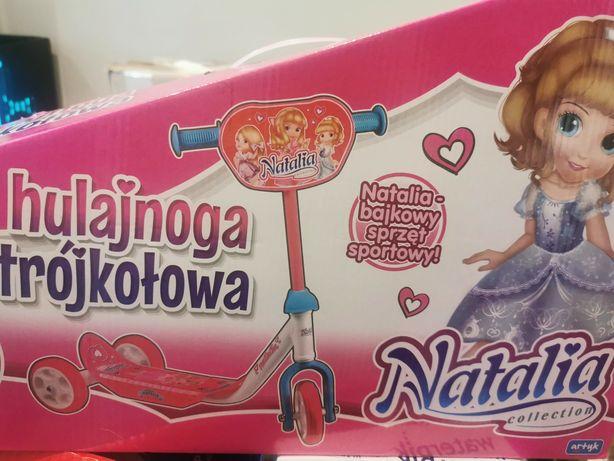 Hulajnoga trójkołowa nowa Natalia dla dziewczynki rozowa