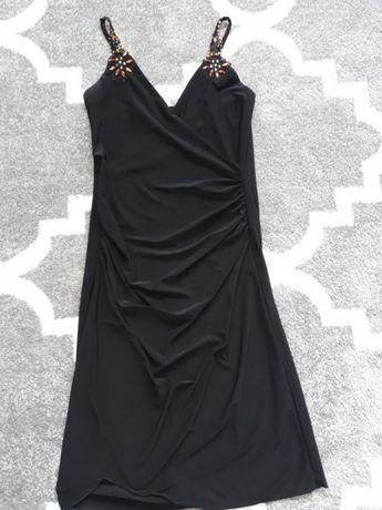 Czarna sukienka z kamieniami,wesele,andrzejki