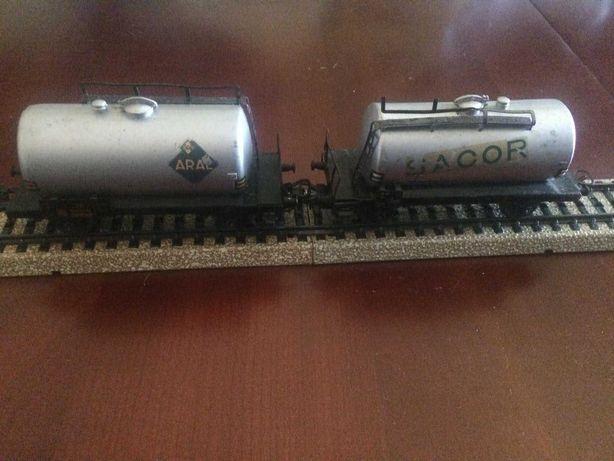 Vagões transporte combustível ARAL SACOR de comboio Marklin Escala HO