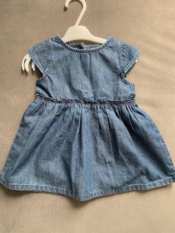 Sukienka jeansowa Next Baby rozmiar 62-68