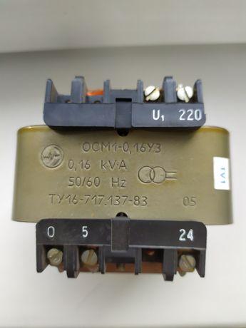Трансформатор ОСМ1-0,16У3 220В, 24В, 5В