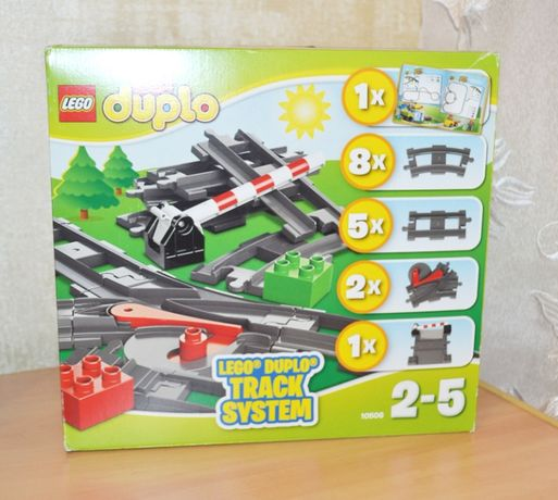 Lego DUPLO Дополнительные элементы для поезда 10506 Лего рельсы