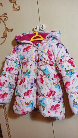 Продам демисезонную куртку My little pony