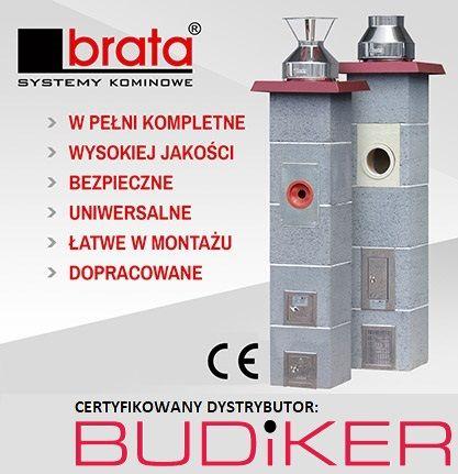 Systemy Kominowe BRATA, pustaki wentylacyjne, akcesoria. Komin, Kominy