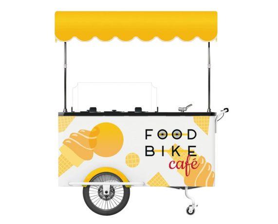 Wózek gastronomiczny | Wózek do lodów retro 10 smaków | Nowy | FV |
