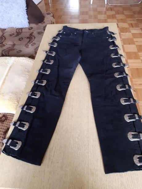 Spodnie skórzane damskie rozmiar 29