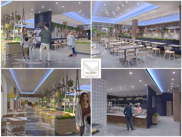Бизнес дизайн, гостиниц, фитнес зал, ресторан, кафе, салон, коммерческ