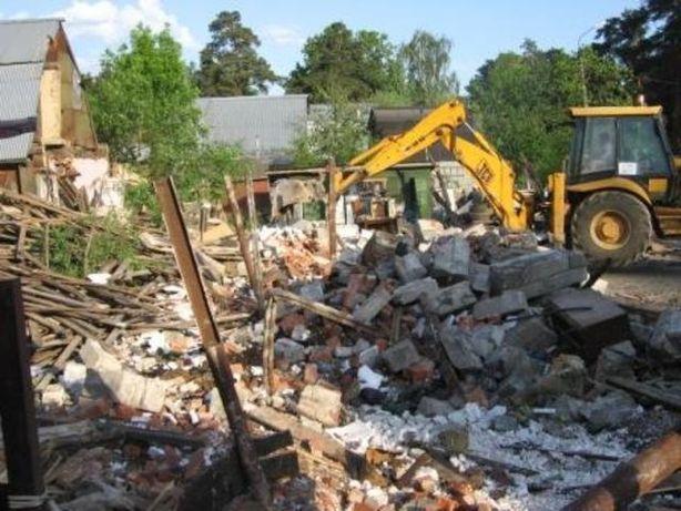 Уборка расчистка участка, территории Демонтаж домов Вывоз мусора