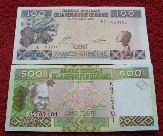 GWINEA Kolekcjonerskie Banknoty - 2 sztuki UNC