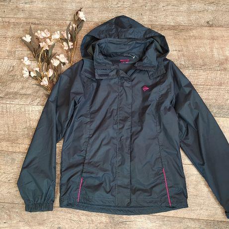 Дождевик куртка ветровка от Dunlop с капюшоном синяя