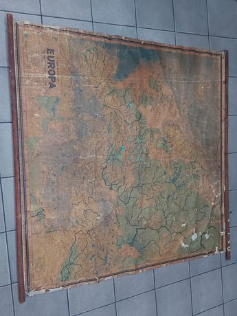 Mapa Europa 1949 rok