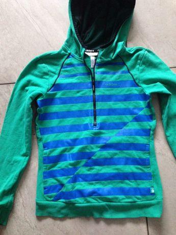 Bluza z kapturem chaber zieleń kieszenie XS adidas