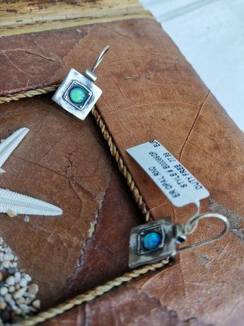 Серебряные сережки 925 пробы  Shablool с опалом. Израиль оригинал