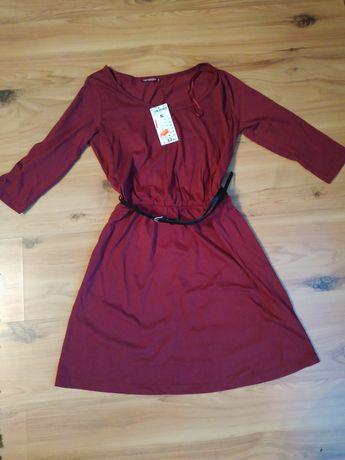 Nowa bordowa sukienka