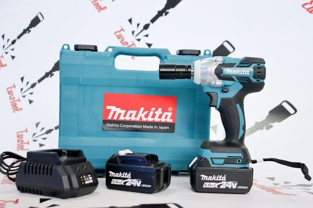 Гайковёрт ударный бесщёточный Makita DTW285 аккумуляторный 24в 5а/ч