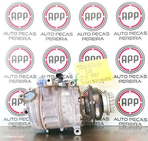 Compressor ar condicionado VW Touareg 2.5 TDI R5 referência 7H0820805C