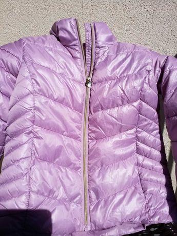 H&M Kurtka przejsciowa 140 różowa odpinany kaptur stan idealny