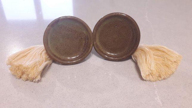 Gałki ceramiczne zielone z frędzlem Madam Stoltz 7794MCD 10 szt.