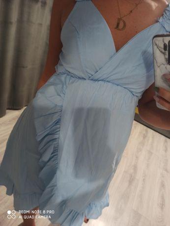 Nowa niebieska sukienka