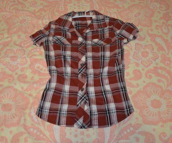 Блузка , рубашка  с коротким регулируемым рукавом.