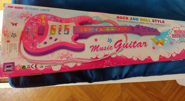 Gitara na baterie dla dziewczynki Rock&Roll