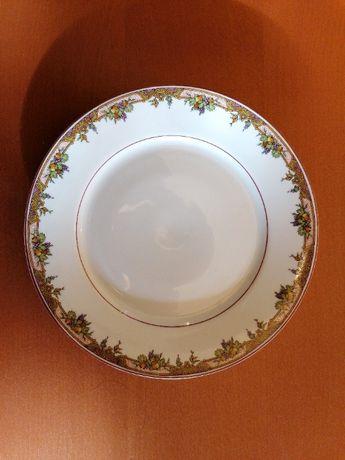Prato decorativo antigo electro ceramica