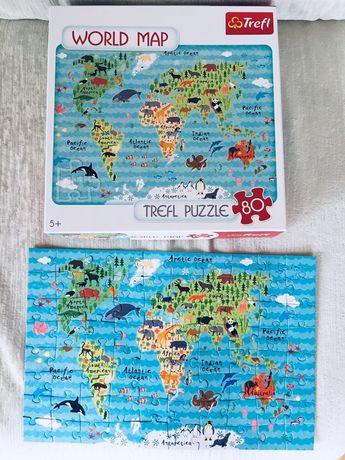 Puzzle - Mapa świata, edycja limitowanowa, nowe(kolekcja)