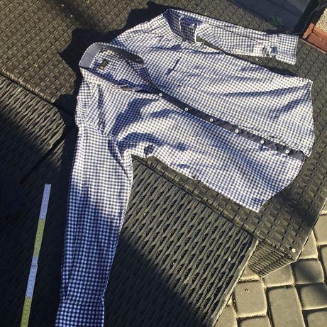 Dwie koszule w kratę super jakość jak nowe na 182 cm wzrostu