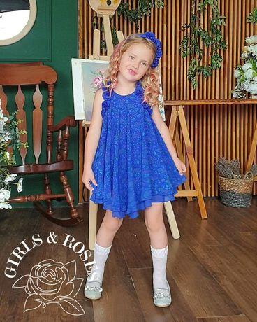 Нарядное платье для девочки 104-110см