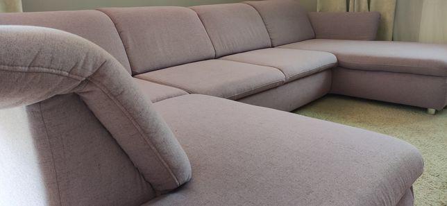 Kanapa sofa narożnik JAK NOWY 330cm wygodny rozkładany używany 4 mies.