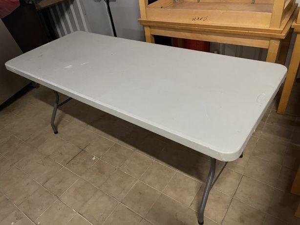 Mesa dobravel com 2m x 65cm - como nova