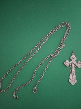 Серебренная цепочка с крестиком