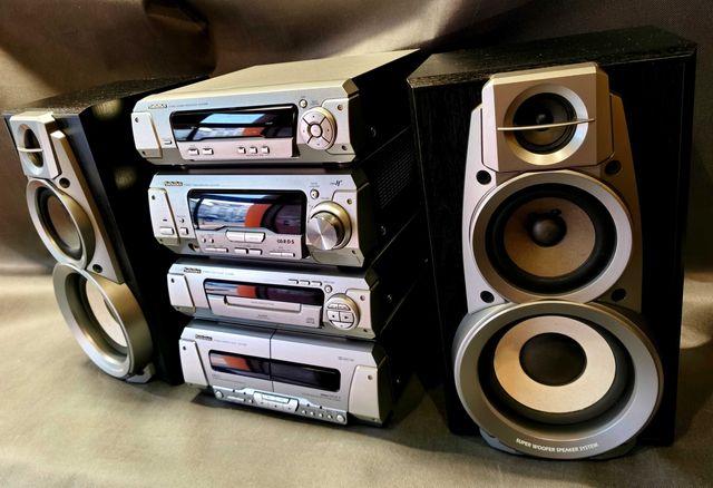 Wieża TECHNICS SA-EH590 Stereo CD Deck Tuner Wzmacniacz 100% Sprawna !