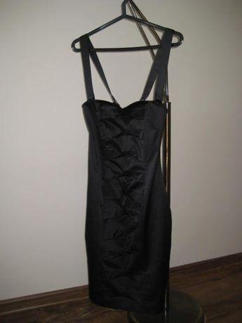 Sprzedam śliczną czarna sukienkę rozmiar 38 firmy AGGI