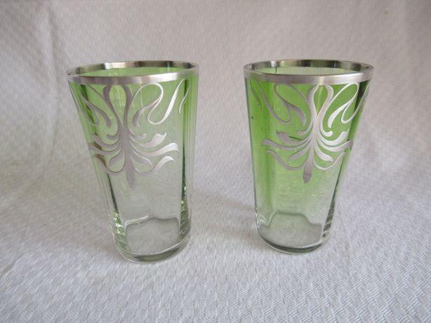 Fruteiras em vidro + copos