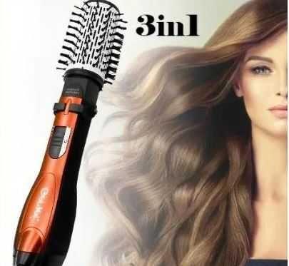 Стайлер фен расческа для волос Gemei GM-4828 с вращающейся насадкой