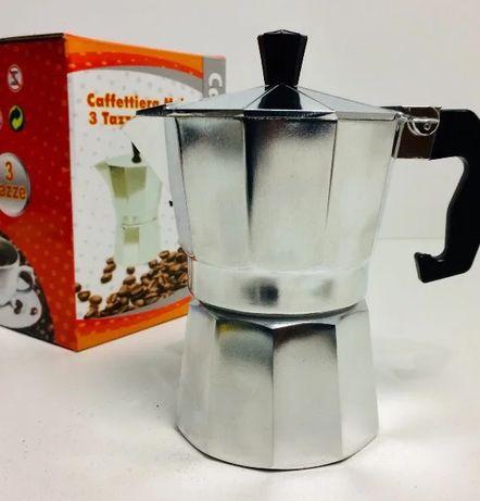 Кофеварка гейзерная алюм. на 3ч UNIQUE