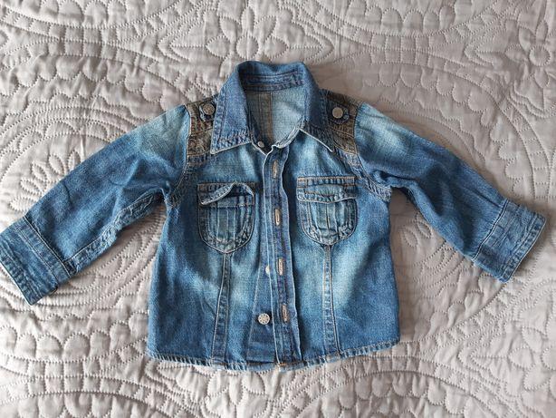 Koszula dżinsowa r.74-80