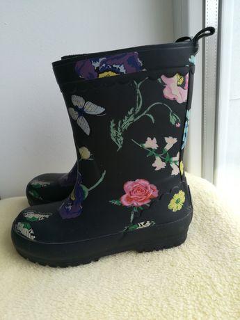 Резинові чобітки на дівчинку