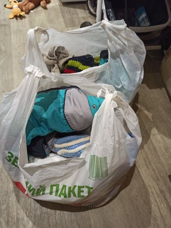 2 пакета детских вещей