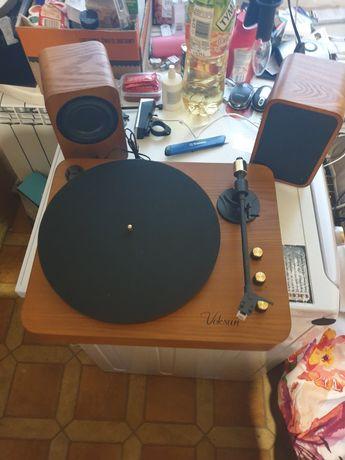 Voksun retro bluetooth adapter gramofon głośnik Bluetooth
