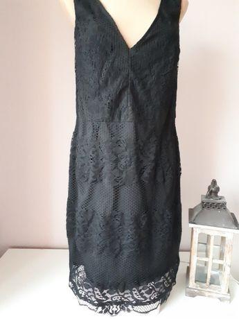 Sukienka mała czarna koronka Sylwester