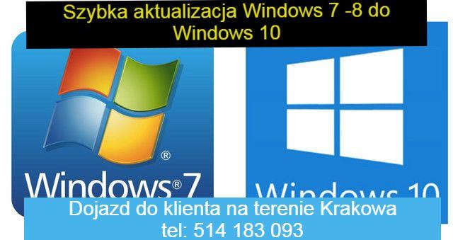 Aktualizacja Windows 7 8 do Windows 10 bez utraty danych + Aktywacja