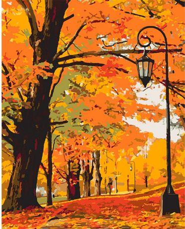 """Набір в коробці, картина за номерами """"Золота осінь"""", 40 * 50 см., SANT"""